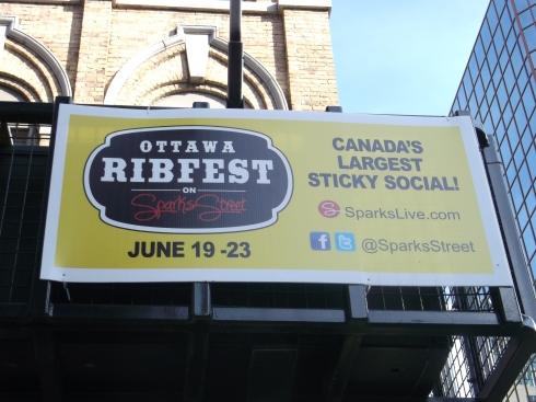 Ribfest Sign