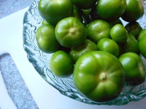 Tomatillos Peeled
