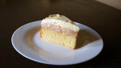 Prosecco Mousse Cake Slice