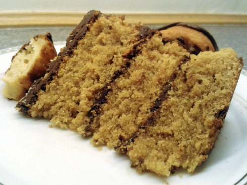 Doughnut Cake Slice Close